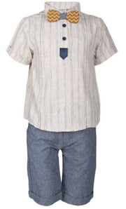 Boys' Tie Outfit for Summer - Elma's Clothing