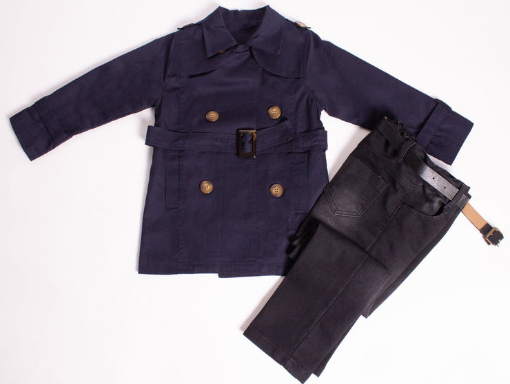 Boys' Trench Coat Set - Elma's Clothing