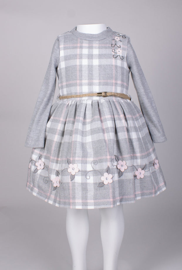 Girls' 2 Piece Gray Dress - Elma's Clothing