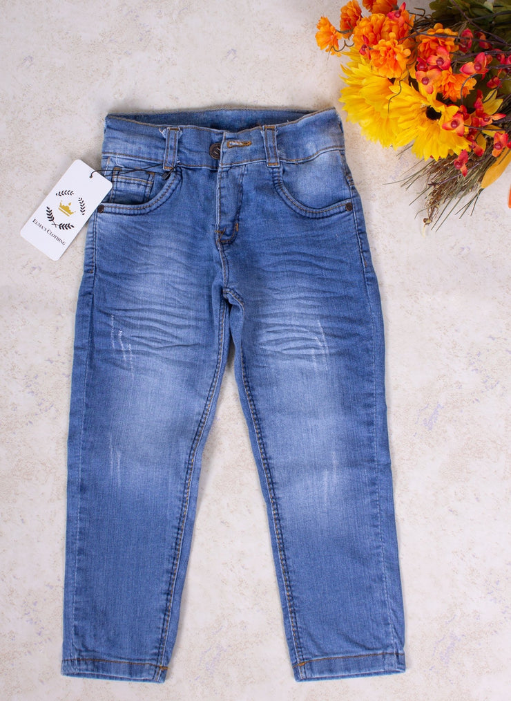 Girls' Blue Jeans - Elma's Clothing