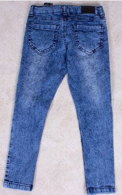 Girls' Blue Sequin Jeans - Elma's Clothing