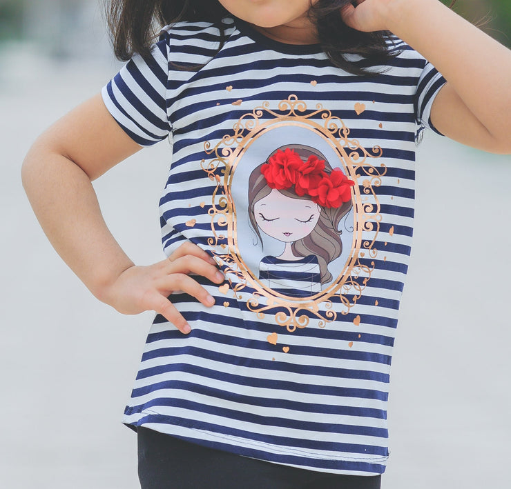 Girls' Crew Neck T-shirt - Elma's Clothing