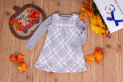 Girls' Gray 2 Piece Overall Dress - Elma's Clothing