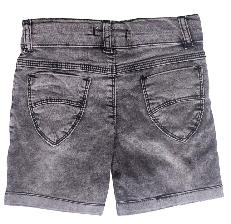 Girls Gray Shorts Jeans - Elma's Clothing