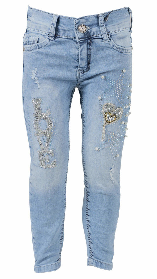 Girls' Heart Jeans - Elma's Clothing