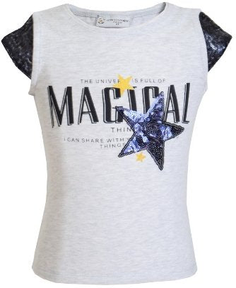 Girls' Magical Star T-Shirt - Elma's Clothing