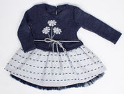Girls' Navy Blue Dress - Elma's Clothing