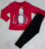Girls' Red Long Sleeve Set - Elma's Clothing