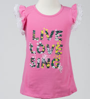 Girls' Ruffle Sleeve T-shirt - Elma's Clothing