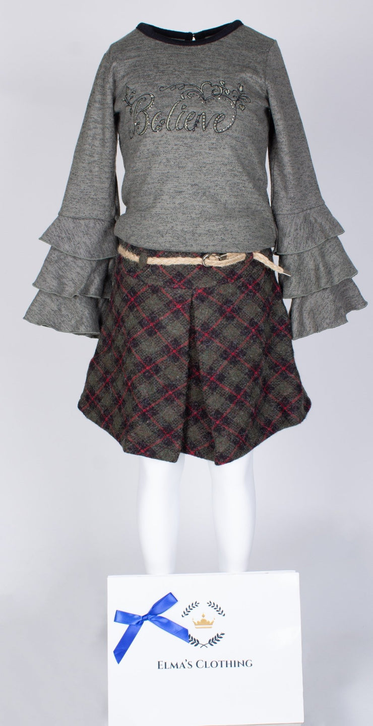 Girls Skirt And Top Set - Elma's Clothing
