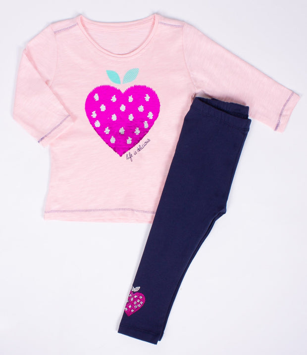 Girls' Strawberry Top Set - Elma's Clothing