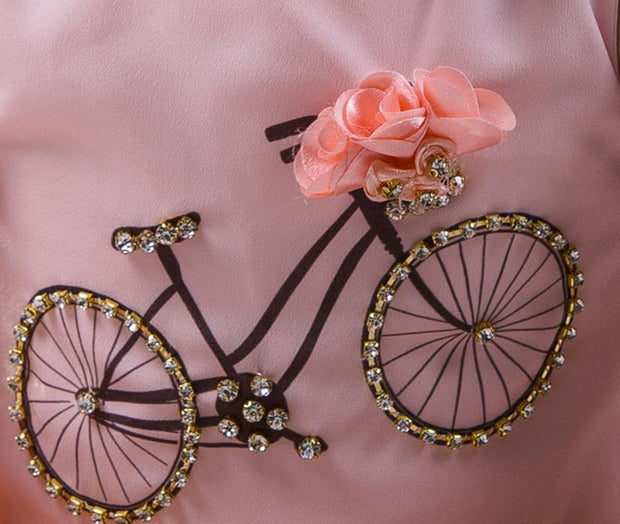 Girls Summer Pink Bicycle Set - Elma's Clothing
