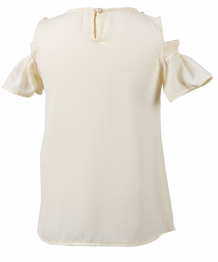 Girls Top with Pearls - Elma's Clothing