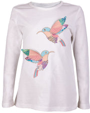 Girls' White Long Sleeve T-shirt - Elma's Clothing
