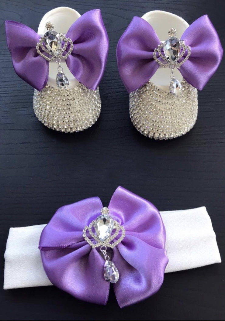 Silver Violet Crown Shoes - Elma's Clothing