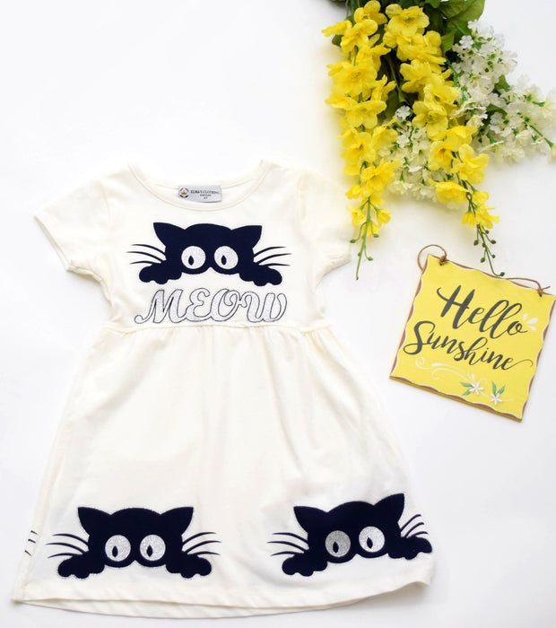 Summer Kitty Cat Dress - Elma's Clothing