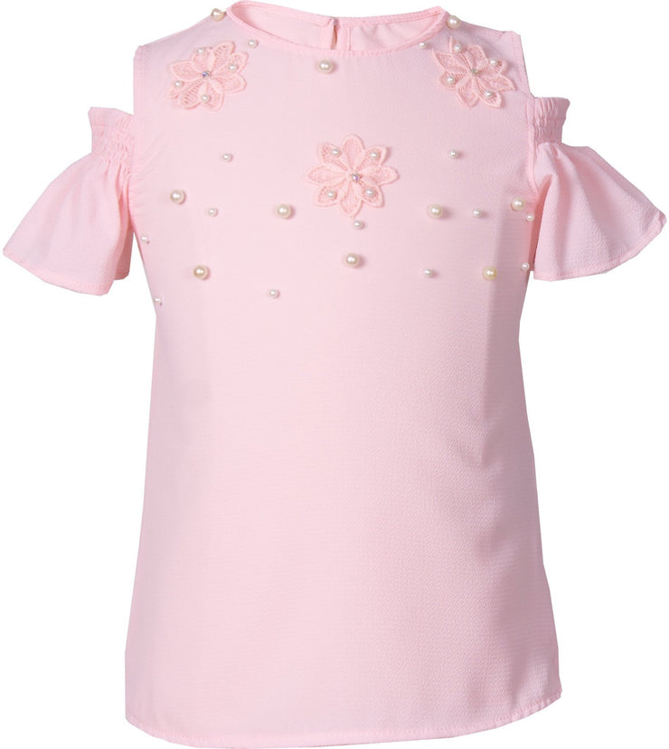 Top with Pearls - Elma's Clothing