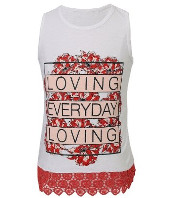 White Loving Everyday T-shirt - Elma's Clothing