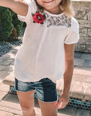 White Rose Top - Elma's Clothing
