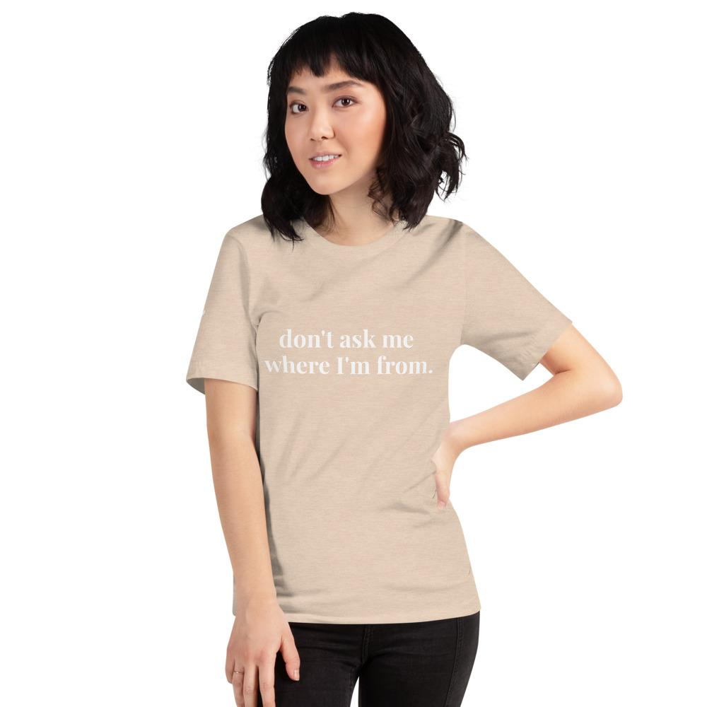 Just Don't Ask Me Tee - Heather Dust - The Tempest Shop