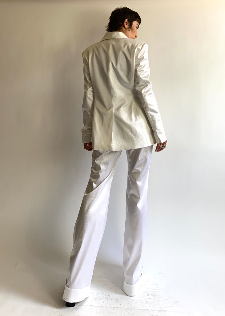 House of Holland Satin-Crepe Suit