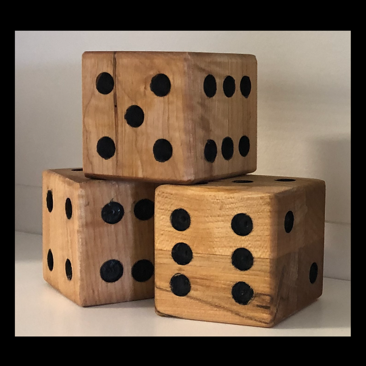 Yard Yahtzee Wooden Dice