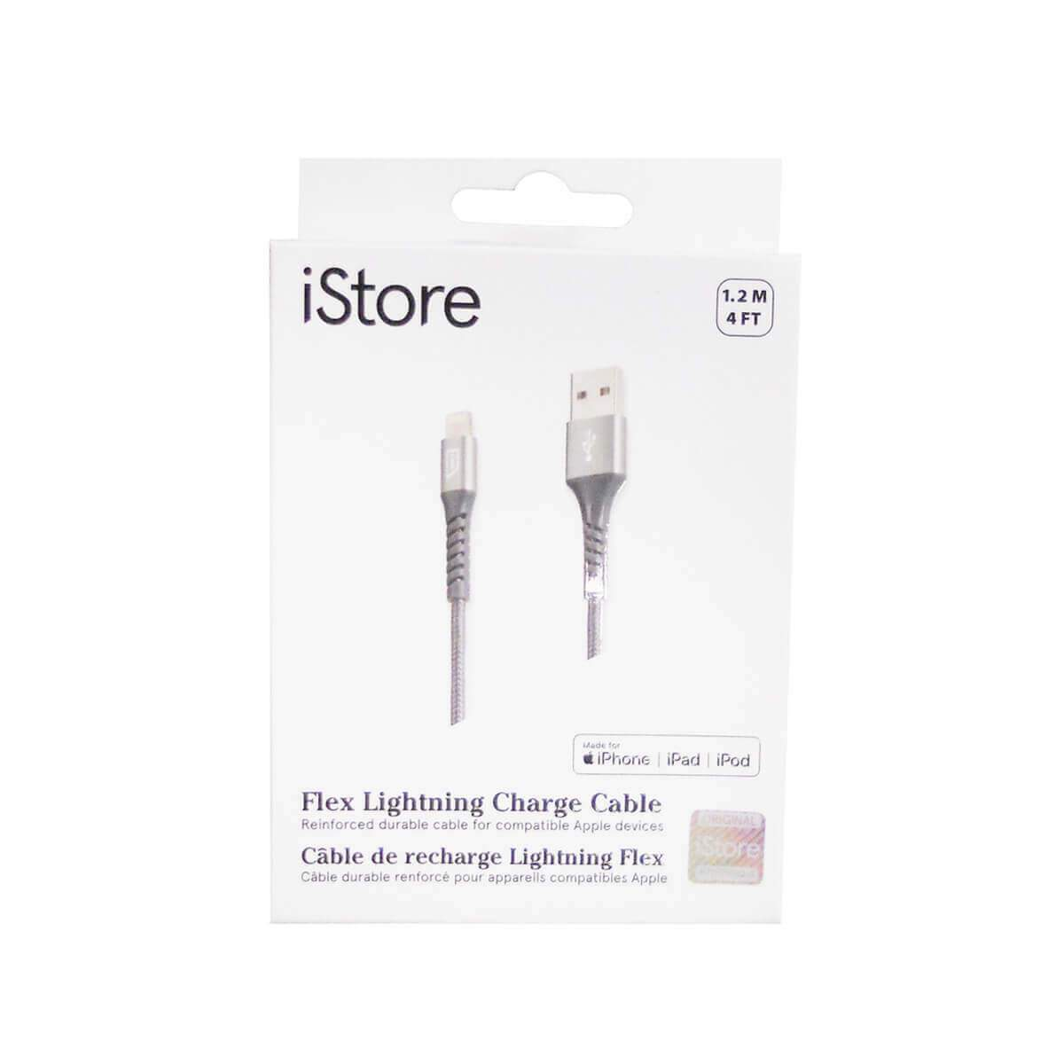 iStore Flex Lightning Charge 4ft (1.2m) Reinforced Cable