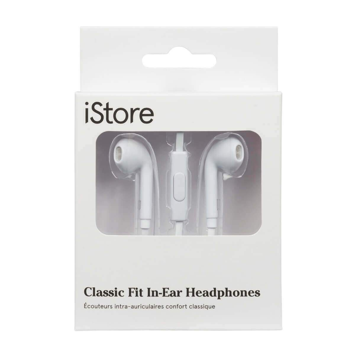 iStore Classic Fit Earbuds (White)