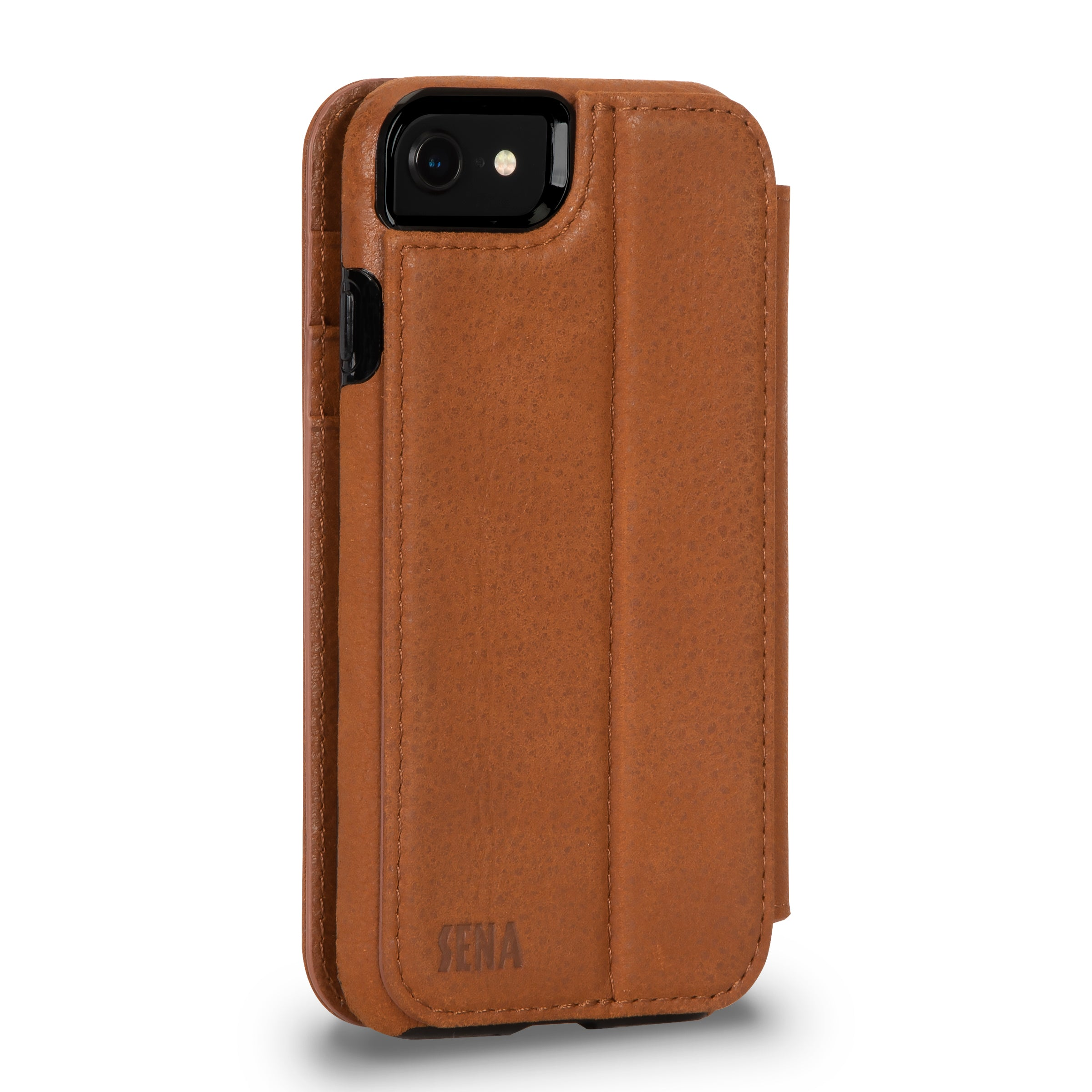 Wallet Book for iPhone SE (Tan)