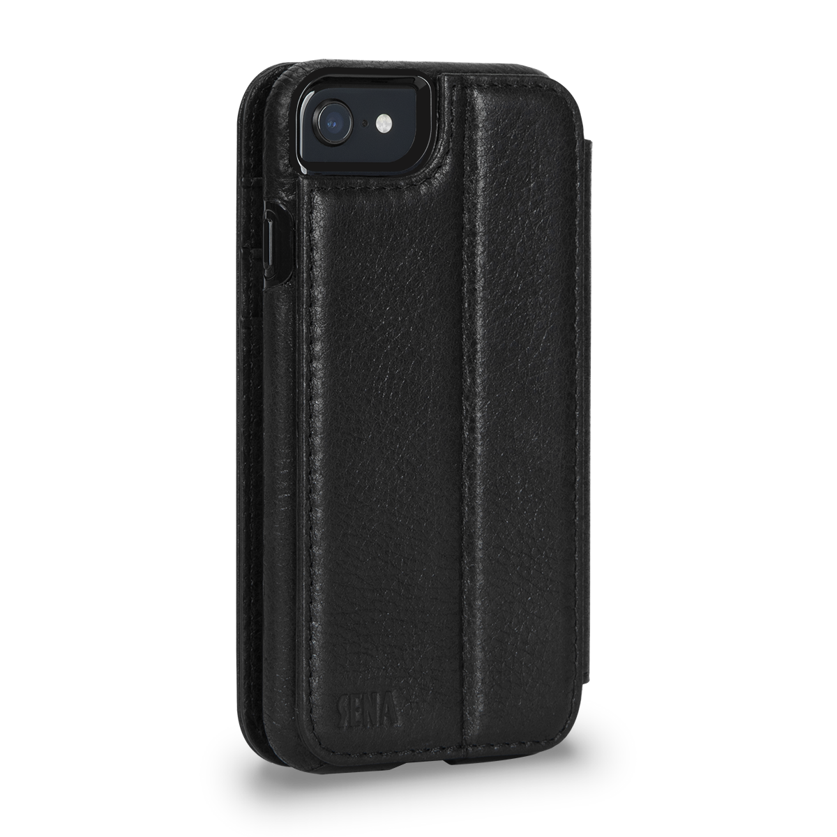 Wallet Book for iPhone SE (Black)