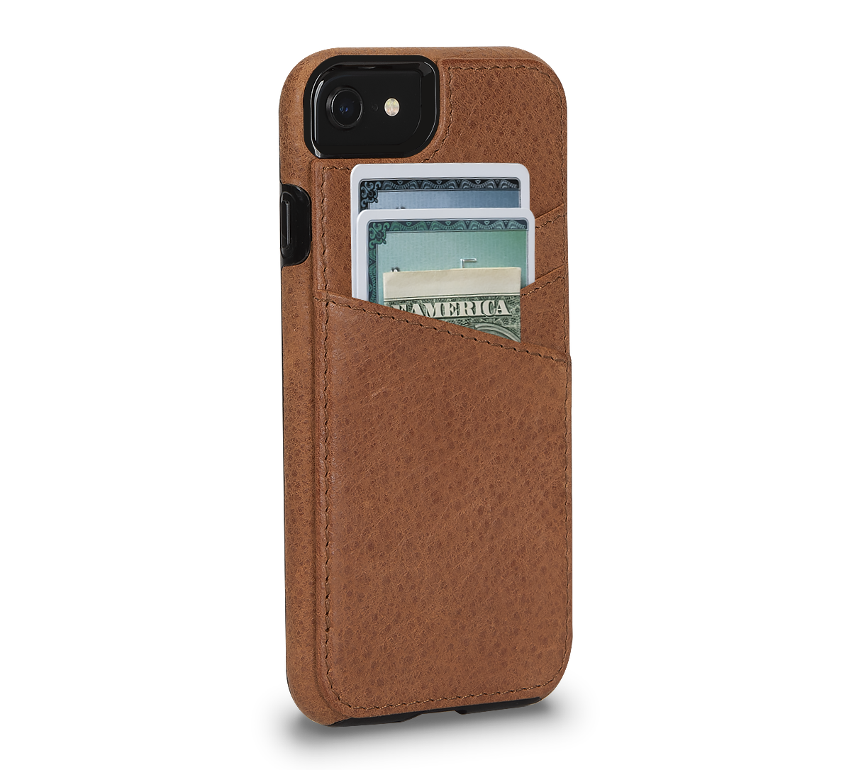 Lugano Wallet for iPhone SE (Tan)