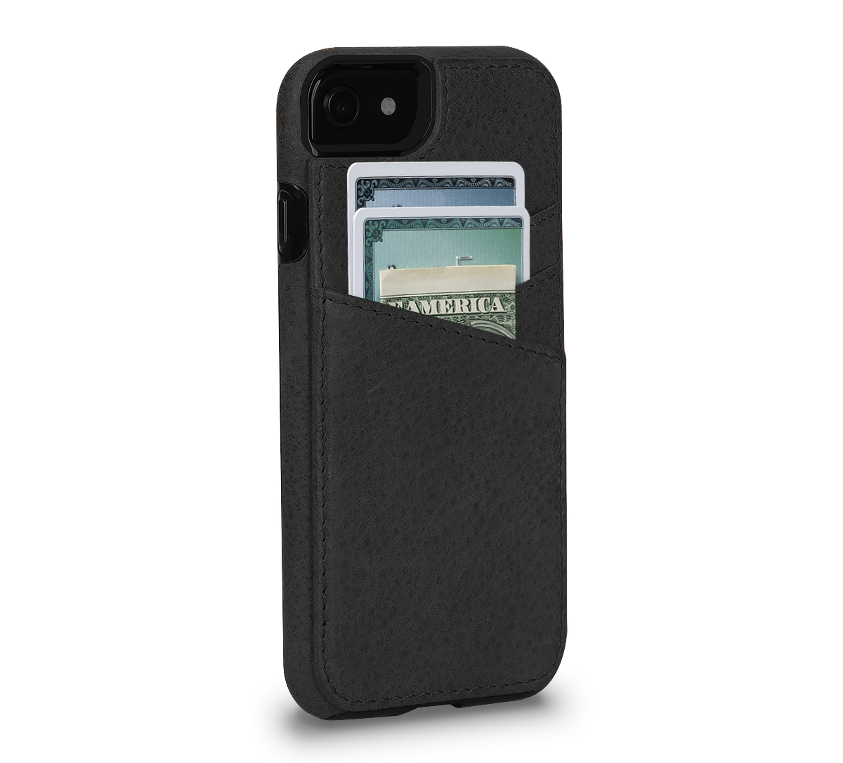 Lugano Wallet for iPhone SE (Black)