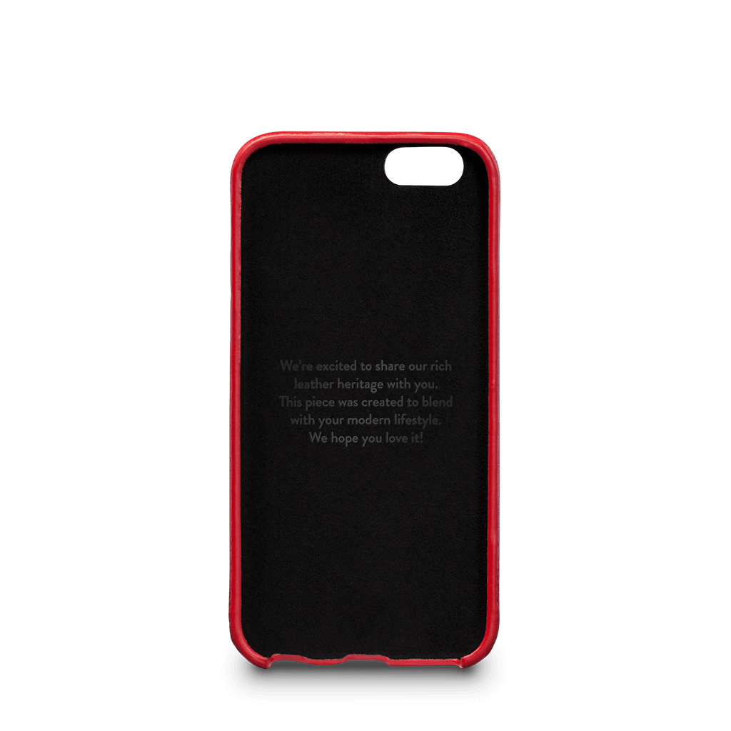 Isa Snap On Wallet Leather Case for iPhone 6s Plus, 6 Plus (Red)