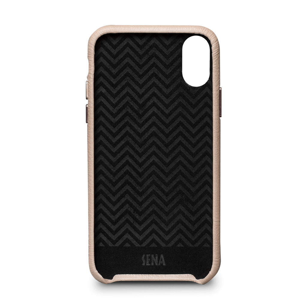 Ruku Snap On Leather Case for iPhone X and XS (Fog)