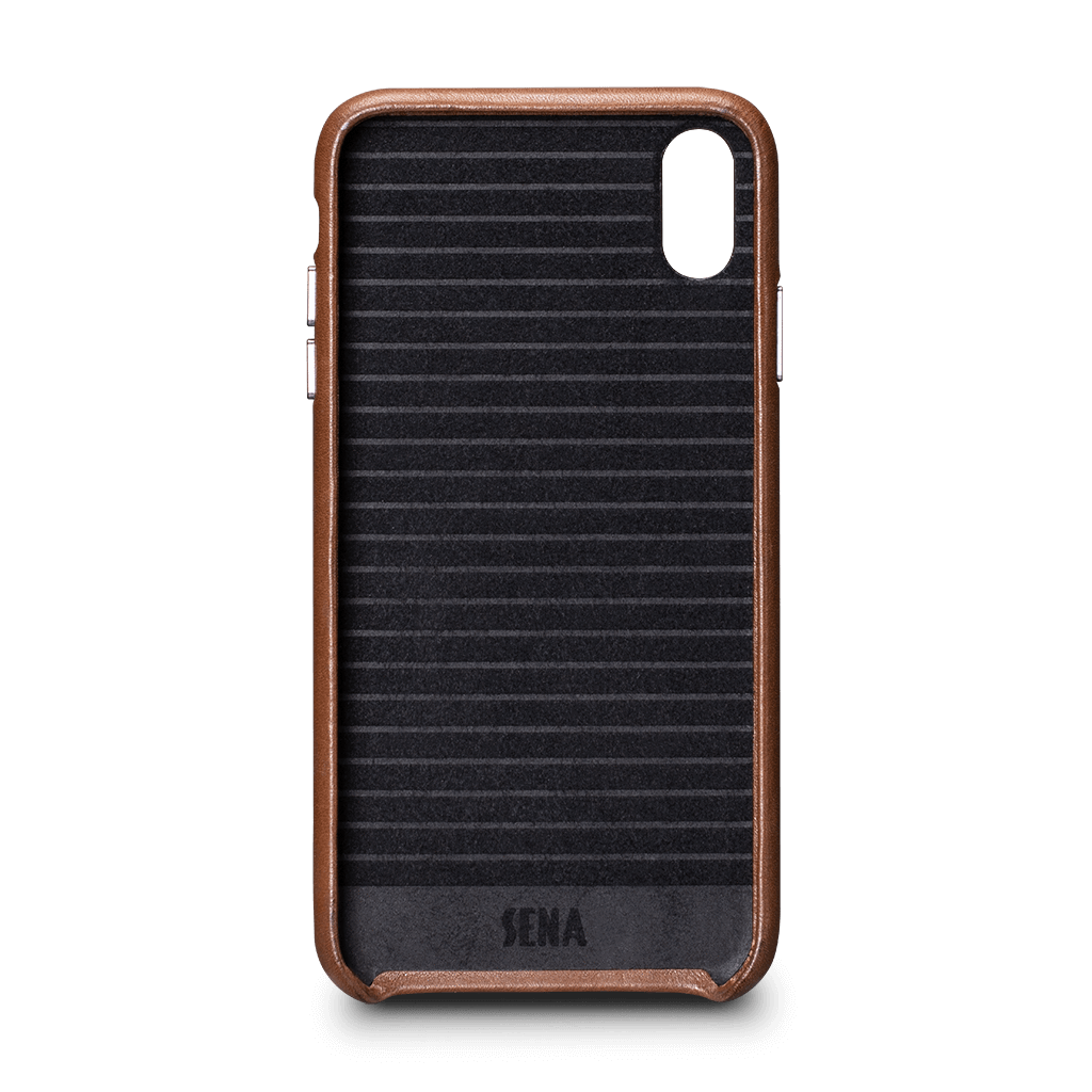 Deen Leatherskin Snap On Case for iPhone XS Max (Saddle)