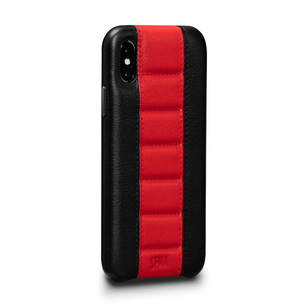 Racer Z Leather Snap On Case for iPhone X and XS (Black)