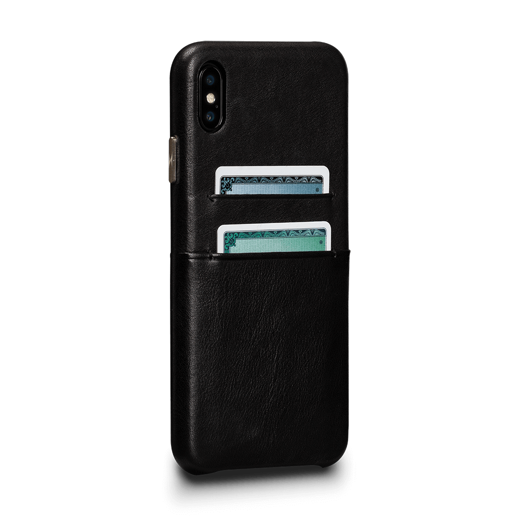 Kyla Leather Snap On Wallet Case for iPhone XS Max (Black)