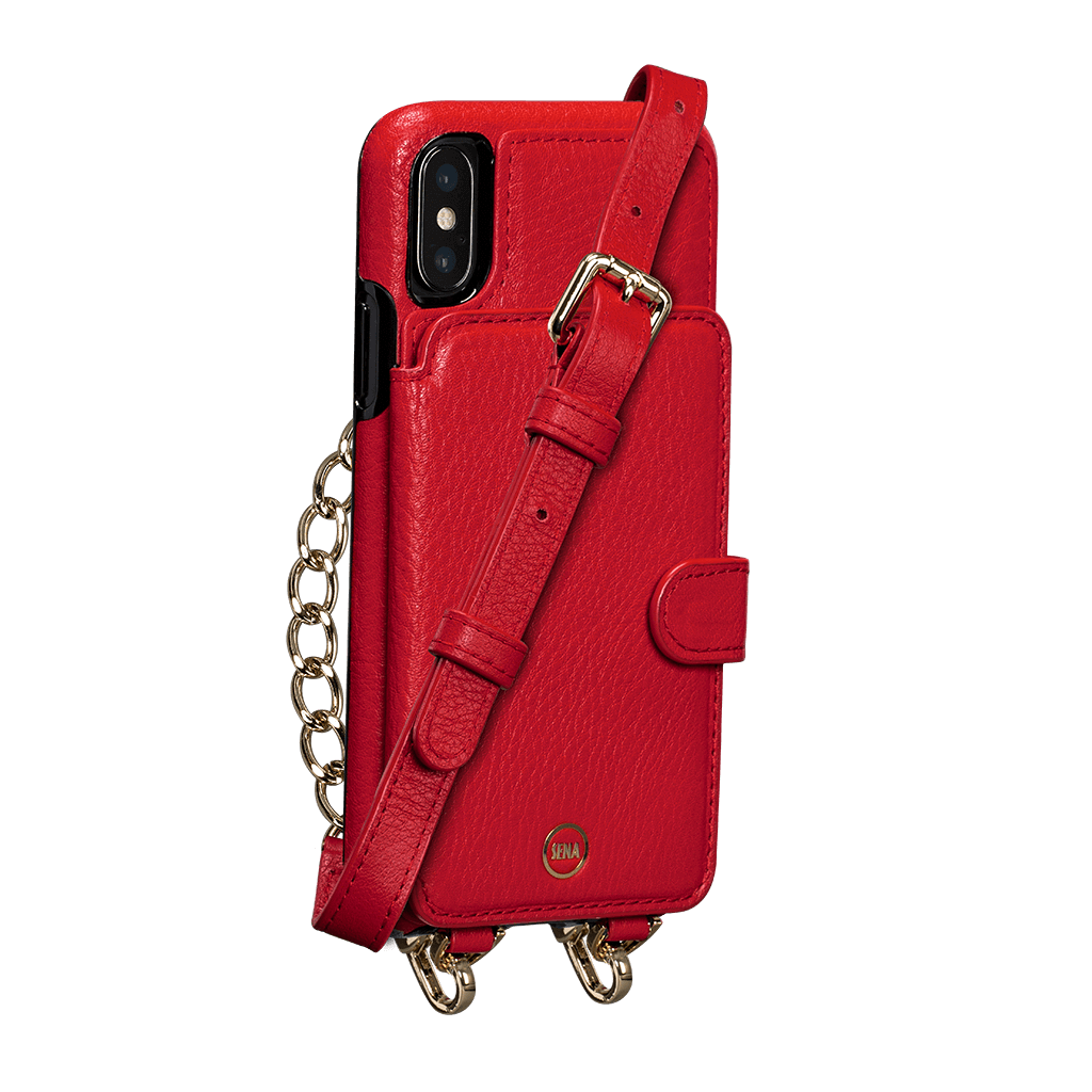 Kyla Crossbody Snap On Case for iPhone X and XS (Red)