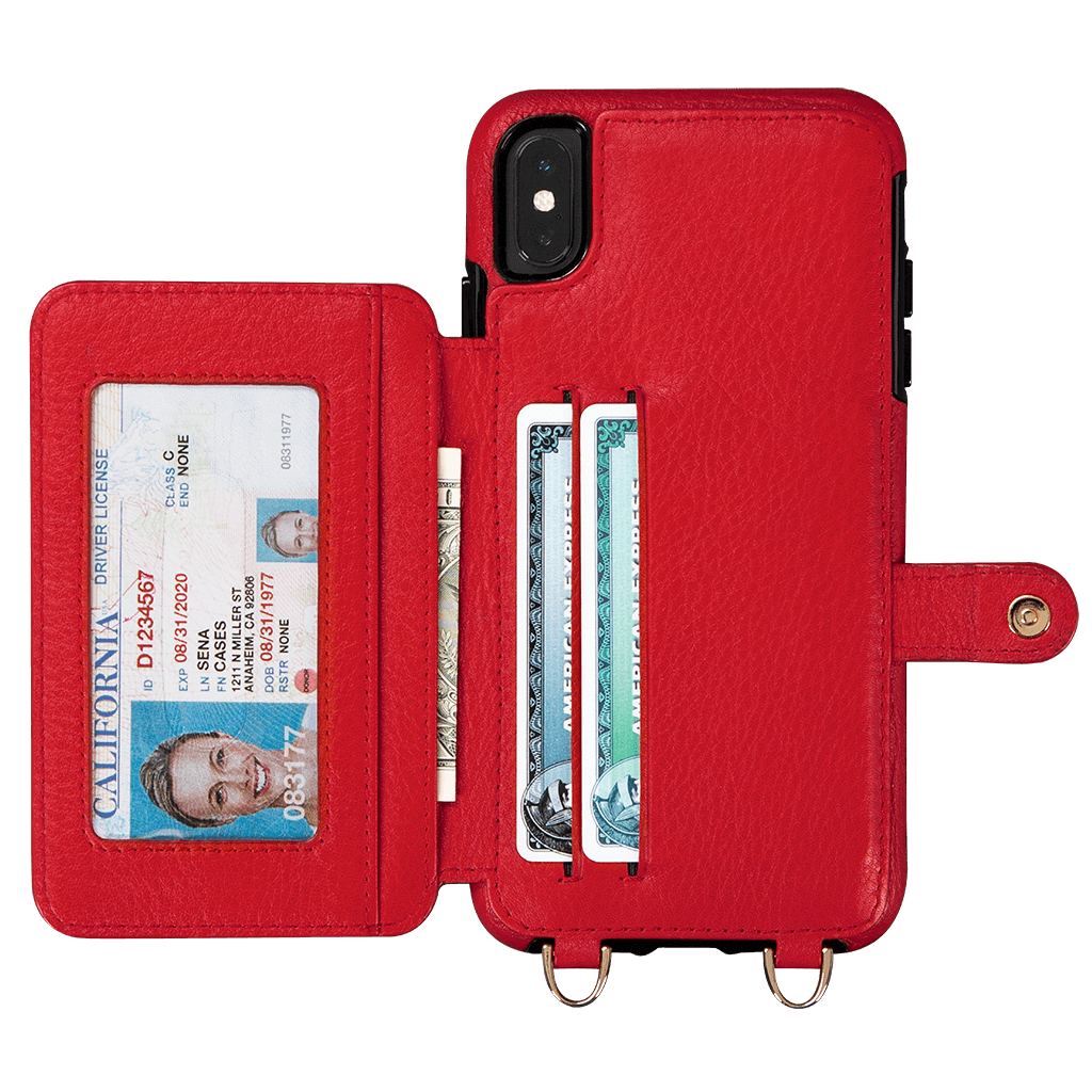 Kyla Crossbody Snap On Case for iPhone XS Max (Red)