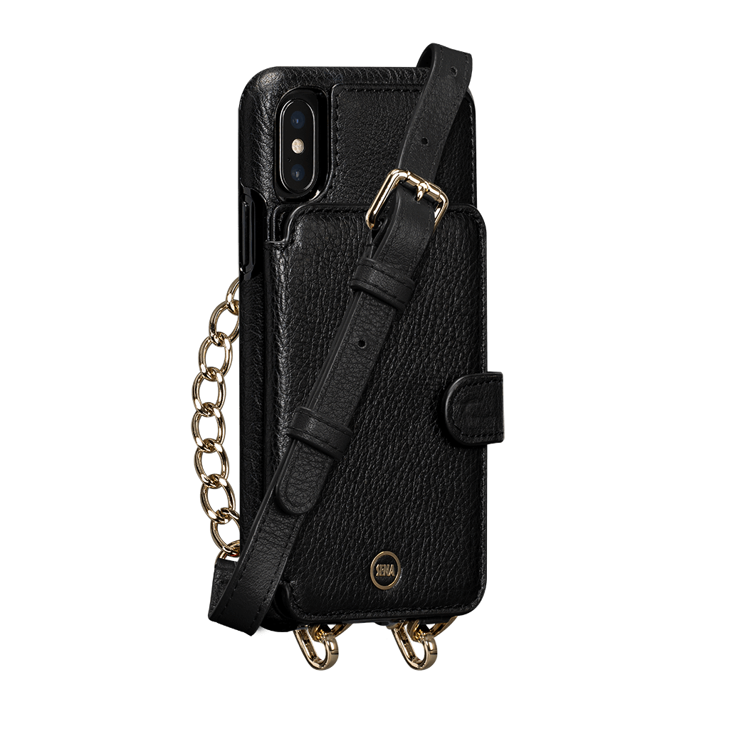 Kyla Crossbody Snap On Case for iPhone XS Max (Black)