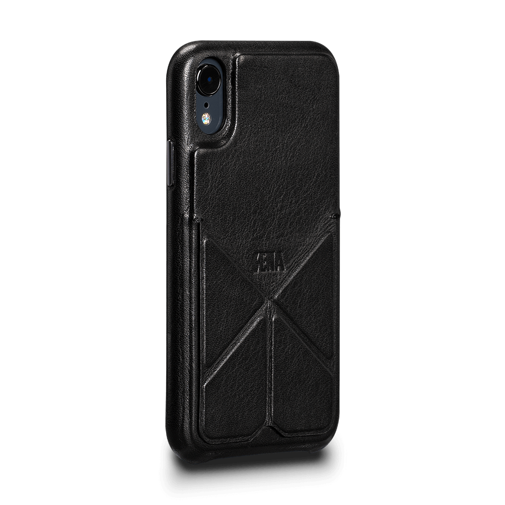 Vista Leather Case with Stand for iPhone XR (Black)