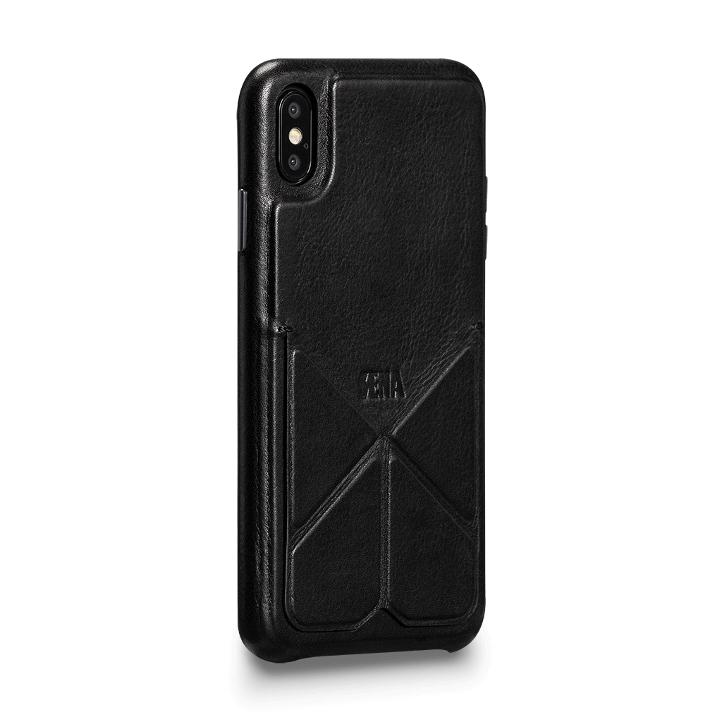 Vista Leather Case with Stand for iPhone XS Max (Black)