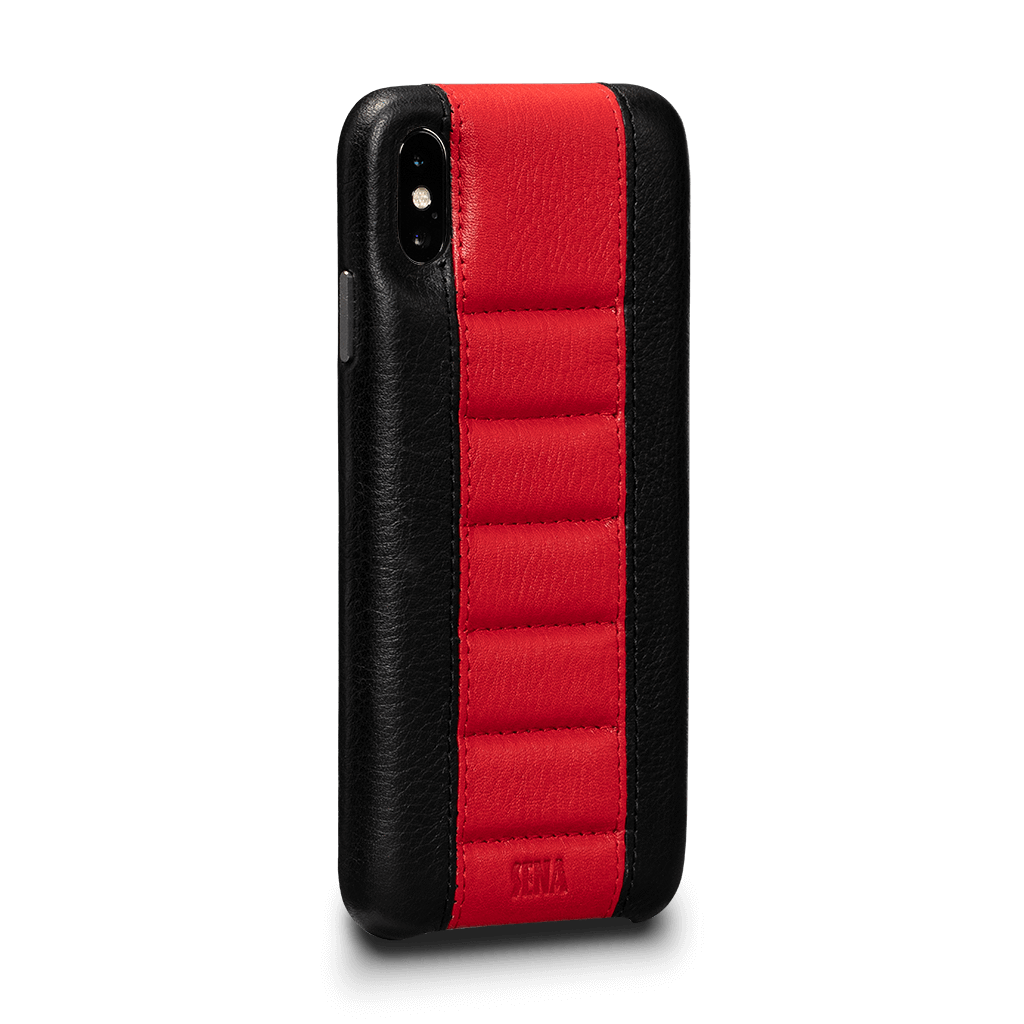 Racer Z Leather Snap On Case for iPhone XS Max (Black)
