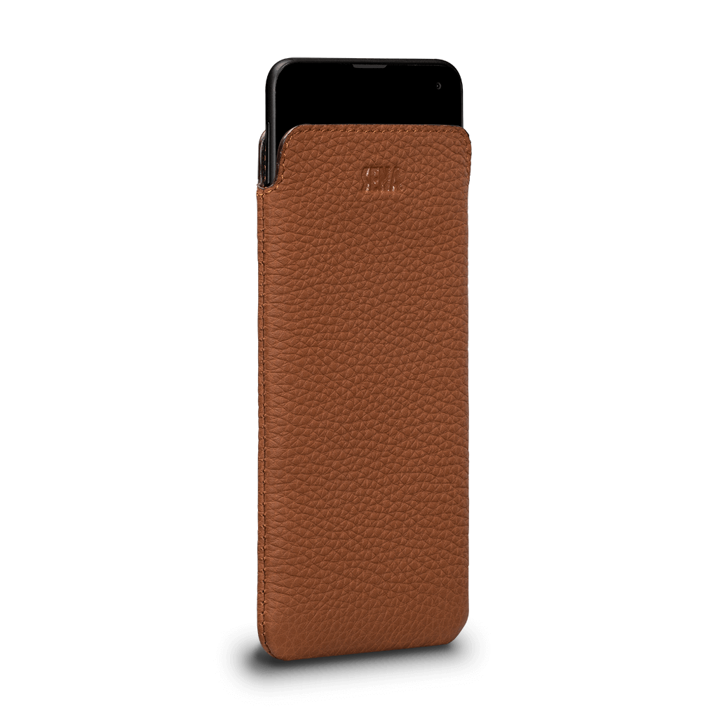 Ultraslim Leather Sleeve Case for Samsung Galaxy S10e (Tan)