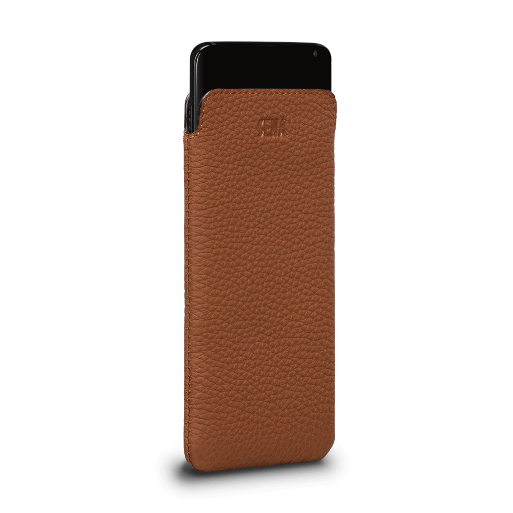 Ultraslim Leather Sleeve Case for Samsung Galaxy S10 (Tan)