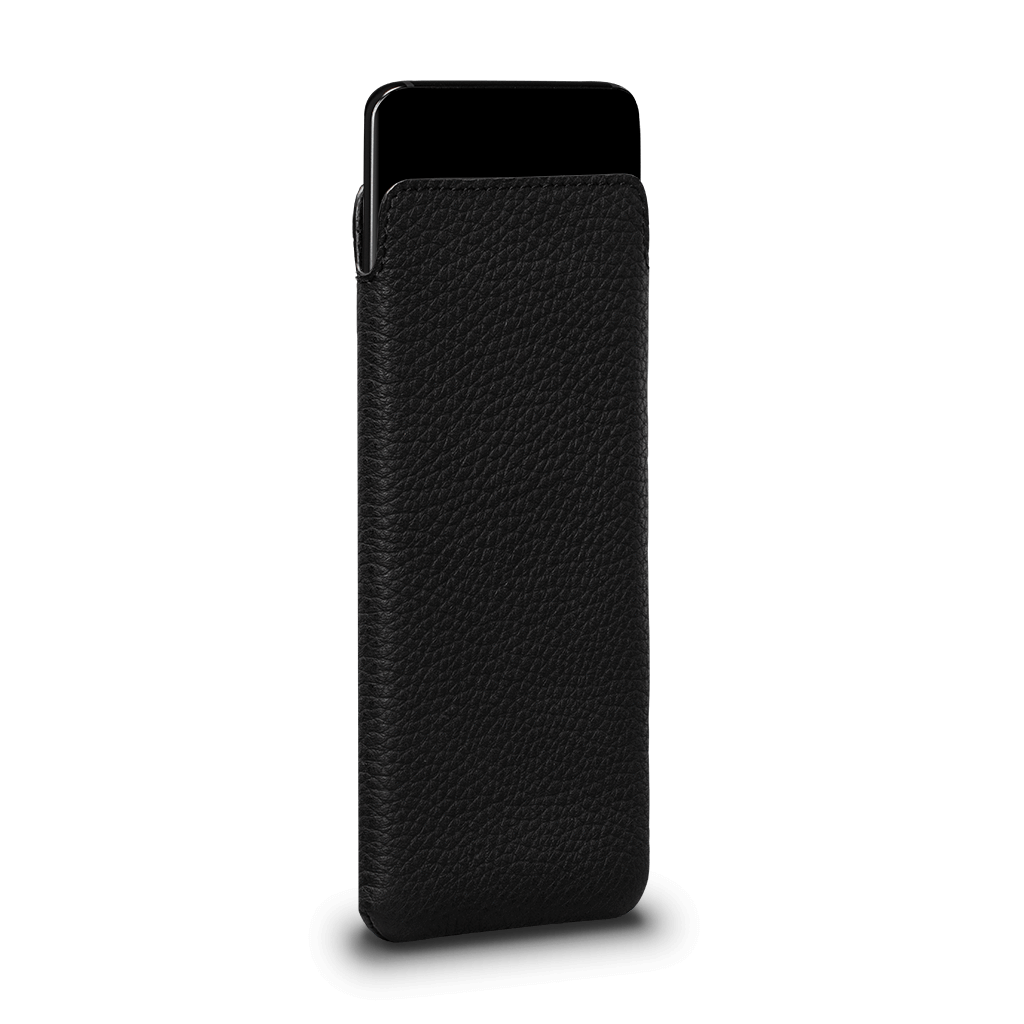 Ultraslim Leather Sleeve Case for Samsung Galaxy S10 (Black)
