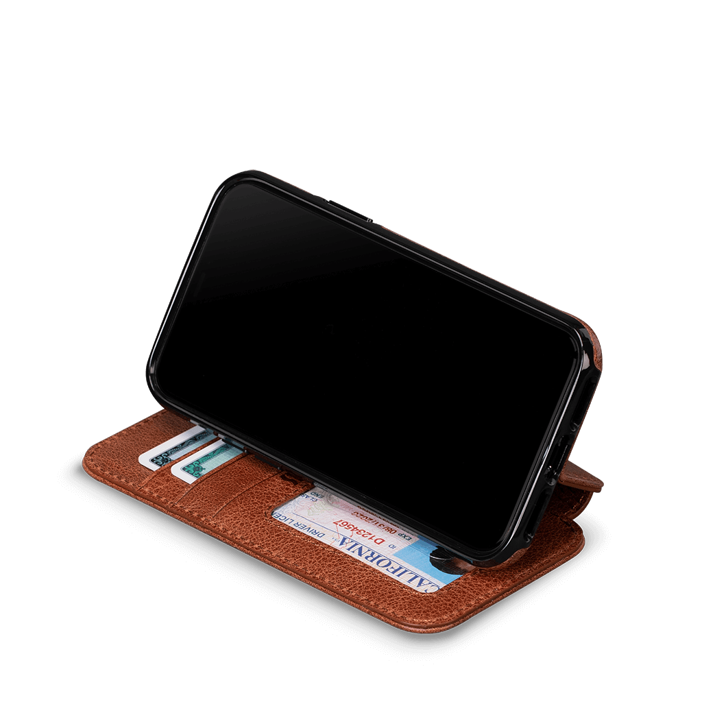 Wallet Book Case for iPhone 11 Pro (Cognac)