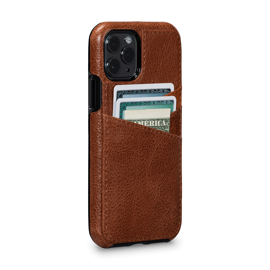 Lugano Wallet Case for iPhone 11 Pro (Cognac/Apricot)