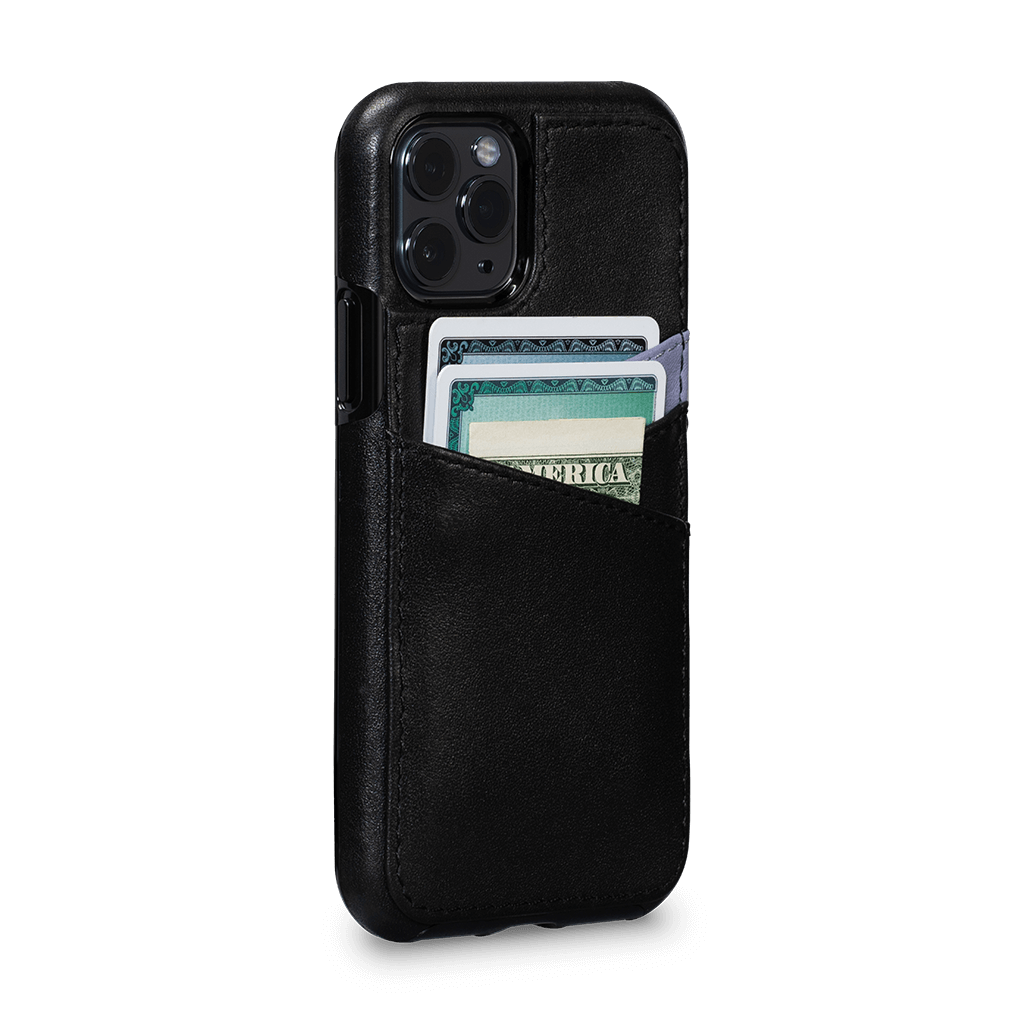Lugano Wallet Case for iPhone 11 Pro (Black/Periwinkle)