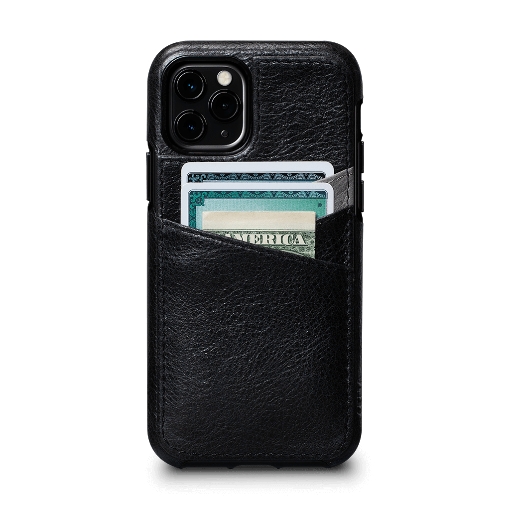 Lugano Wallet Case for iPhone 11 Pro (Black/Grey)